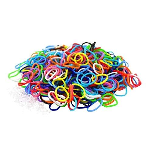 3000 pièces arc-en-caoutchouc Bandes Loom premium Bandes élastiques avec force 125 clips pour Loom arc-en-Bracelet Making Robe