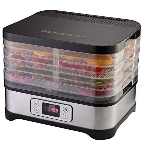 Déshydrateur alimentaire température Réglable Sèche aliments 70° Affichage digital MANHATTAN avec Minuterie 72H 250W
