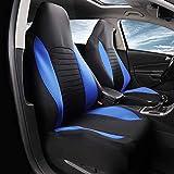AUTOYOUTH Fundas para asientos delanteros de coche, fundas de asiento de cubo, fundas de asiento de ajuste universal, para sedán, camión, SUV, color azul
