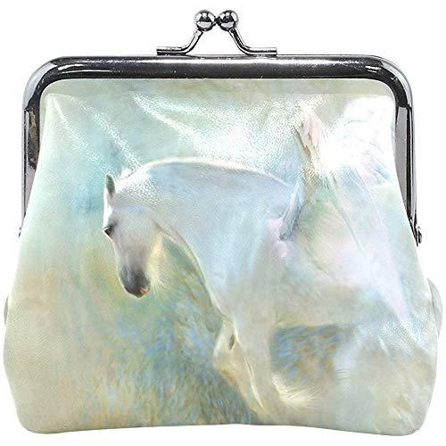 Portemonnee sluiting Angelic Unicorn White Horse Walllet dames portemonnee veranderen