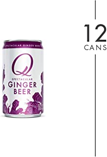 Q Mixers Ginger Beer, Premium Cocktail Mixer, 7.5 oz (12 Cans)