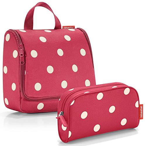 reisenthel Exklusiv-Set: toiletbag Kulturtasche Plus GRATIS makeupcase Kosmetiktasche Etui (Ruby dots)