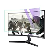 CapriTech Anti Blue Light Anti Glare Screen Protector Filter for 34 Inches Gaming Monitor Curved Ultrawide 21: 9 Desktop Monitor, Relieve Eye Strain-32.20x13.58 inch(Narrow Border)