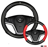 Hcxh-A Coperchio del Volante in Pelle di Mucca in Fibra di Carbonio Adatto per Opel Astra J G Badge Zafira A B Corsa D Mokka Vivaro Meriva (Farbname : D Shape Black)