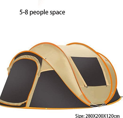 Pop Up Tente Instantanée, Tentes de Camping familiales de 5 à 8 Personnes, Tente de Plage Portable résistante à l'Eau, abri extérieur adapté à la Famille, Camping, Plage de pêche