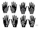 Beyond Henna de tatuaje desechable autoadhesivo con 8 hojas para tatuaje de brillo y los tatuajes del aerógrafo Set de 2