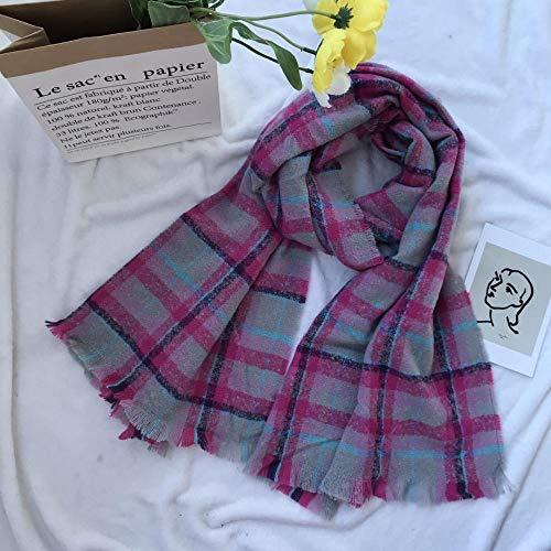 CHBY Bufanda Mujer de Punto Bufandas de Manta a Cuadros para Mujer Bufanda Mujer otoño e Invierno Calidez Chal Scarf-5 Color