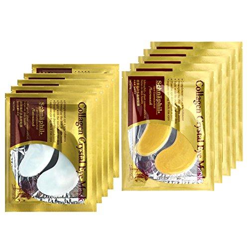 Boolavard® TM 5 Paires de Collagène Masque / 5 Paires 24K Eye Patch Anti Aging Atténuer les Cernes Poches Rides Sacs Black Eye Hydratant