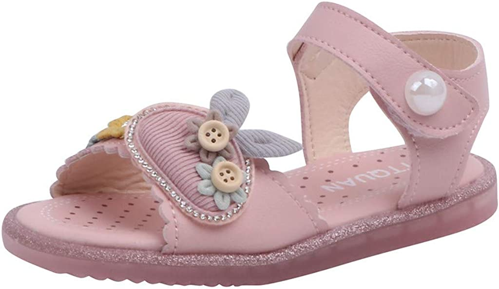 Baby Girl Sandals Soft Sole Baby Shoes Princess Flat Shoes Rabbit Shoes for Girl