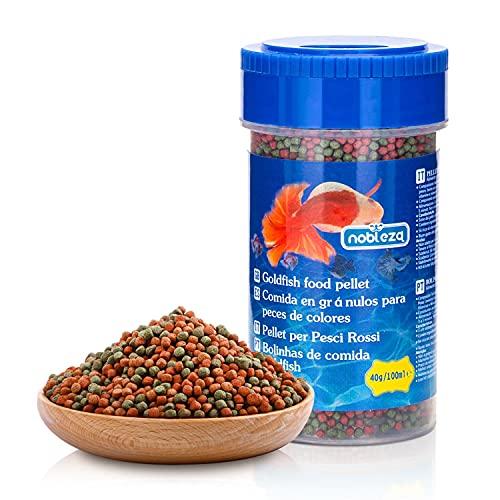 Nobleza - Cibo per Pesci Rossi, Granuli Morbidi per Pesci ad Affondamento Lento, 40 g / 100 ml