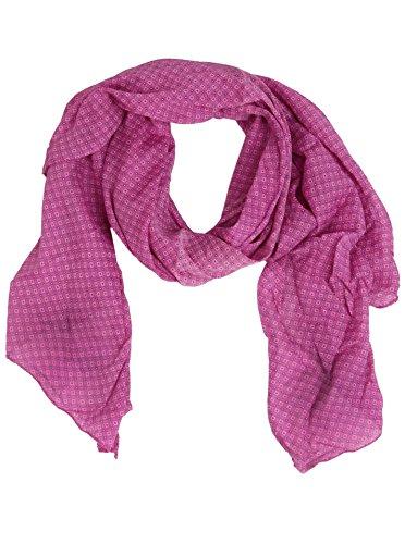 Zwillingsherz Seiden-Tuch Damen dezentes Muster - Made in Italy - Eleganter Sommer-Schal für Frauen - Hochwertiges Seidentuch/Seidenschal - Halstuch und Chiffon-Stola stilvolles Muster pink
