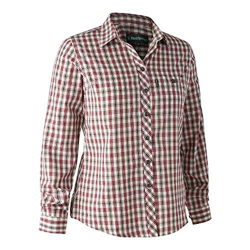 Deerhunter Lady maximale blouse rood geruit