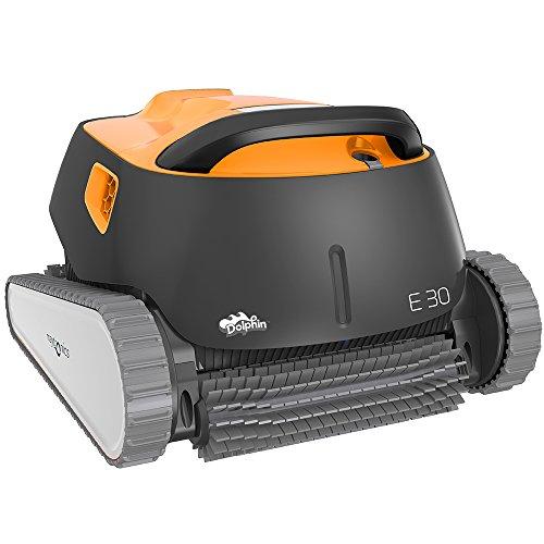 Dolphin E30 automatische reinigingsrobot. Handige, lichte en eenvoudig te reinigen stofzuiger. Ideaal voor in de grond verzonken en op de grond geplaatste zwembaden.
