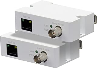 LINOVISION POE IP Over Coax Converter, Transmit POE Power and Data Over RG59 Coaxial Cable or Twist Pair Cables, Max. 3300...