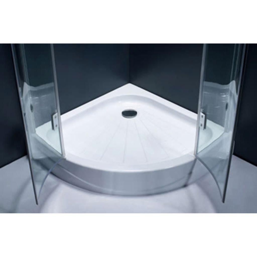Weilandeal Puerta de ducha semicircular esquinal 80 x 80 cm puerta ...