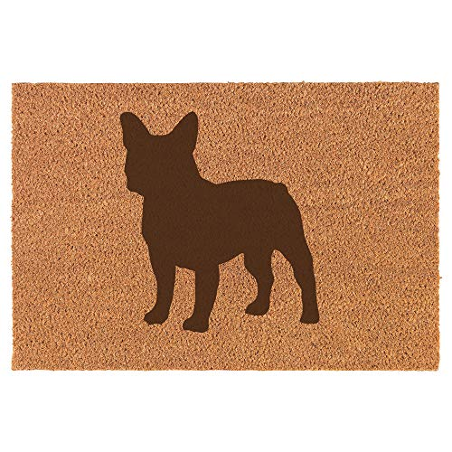 Daylor Coir Door Mat Entry Doormat French Bulldog Frenchie