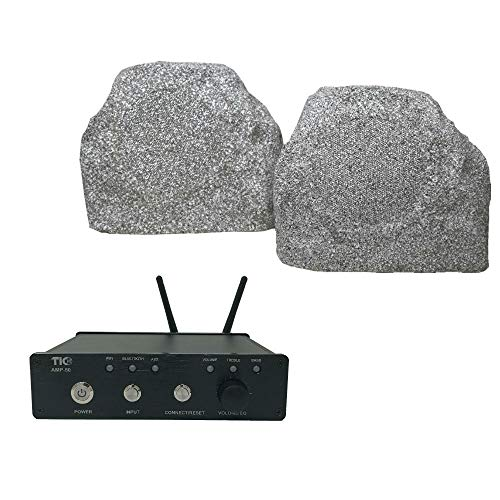 Purchase TIC TFS5-WG White Granite Rock Speakers with AMP50 2x50W Outdoor WiFi/Bluetooth Amplifier
