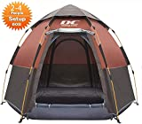 Diamond Candy 2-4 Person Fast 60 Seconds Easy Set Up Instant Cabin Tent, Camping Tent, Provide Top Rainfly, Waterproof Tent Advanced Venting Design, with Electrical Cord Access Port