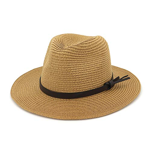 EINSKEY Strohhut Damen Sommer Breite Krempe Safari Hut UV Schutz Sonnenhut Gartenhut 54-59 cm