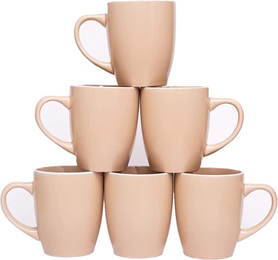 Aysenc Coffee Mugs Set of Max 81% OFF 6 12 Cups Ceramic Medium Ounce Spring new work