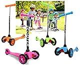 Monopattino per Bambini 3 Ruote da 3 a 6 Anni Monopattino Richiudibile, Carico Massimo 25 kg (Verde)
