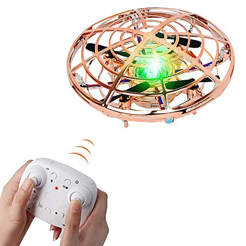 Kids Flying Toys Remote Drones for Beginner Kids Boys and Girls (Gold)