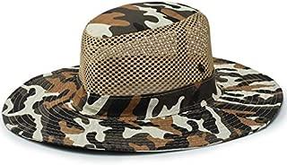 CHENDX Hat Big Outdoor Visor Breathable Military Cap Camouflage Hat Fisherman Hat Sunscreen Sun Hat Fishing Cap (Color : Khaki)