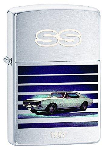 Zippo Lighter Chevy Camaro 1967 Brushed Chrome