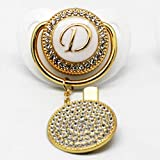 Luxus Sparkle Princess Crown Baby Bling Bling Schnuller Strass White Pearl Crystal kieferorthopädische Nippel Silikon Schnuller Dummy