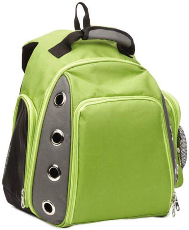 Huayue Pet Shoulder Carrying Bag Breathable Travel Pet Dog Bag Backpack Portable pet Backpack (color   Green, Size   14cm43cm42cm)