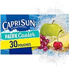 One 30 ct. box of Capri Sun Naturally Flavored Pacific Cooler Mixed Fruit Juice Drink Blend Capri Sun Naturally Flavored Pacific Cooler Mixed Fruit Juice Drink Blend delivers fun refreshment with all natural ingredients Our ready to drink juice drink...