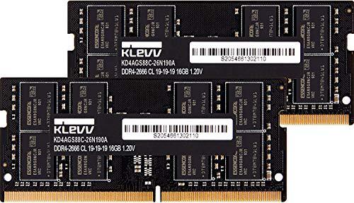 KLEVV ノートPC用 メモリ DDR4 2666 PC4-21300 16GB x 2枚 260pin SK hynix製 メモリチップ採用 KD4AGS88C-...