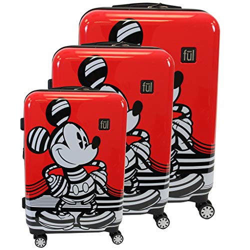 For The Serious Traveler 3 Piece Mickey Mouse Kids Luggage Set with Five Year Warranty