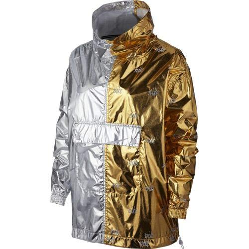 NIKE Sportswear Chaqueta, Mujer, Gold/Silver, M
