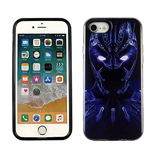 iPhone SE 2020 4.7 Inch Dual Slim Case CASEVEREST 3D Print CoverIphone SE Black Panther Action Hero Comics iPhone 6S 7 8 PC+PTU