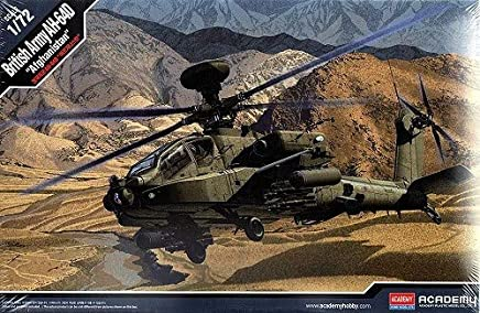 Helicoptero AH-64A British Army Afghanistan 12537 - ACADEMY