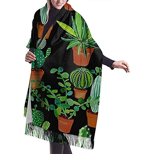 Laglacefond dames sjaal in bloempot groene sjaal winter wrap head sjaal