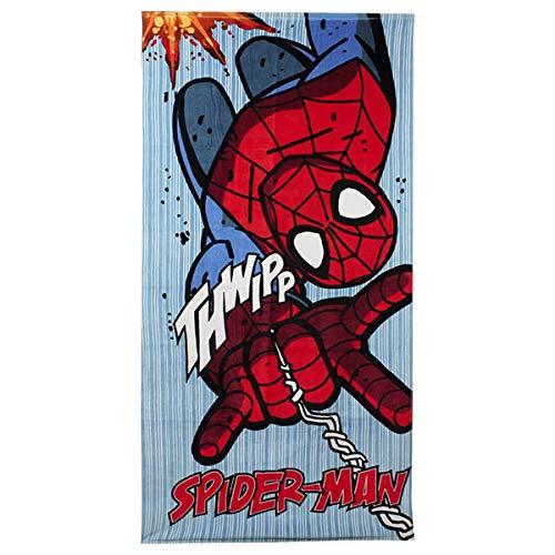 Spiderman Toalla de Playa My Little Pony, Algodón, Azul y Rojo, no, 140x2x70 cm