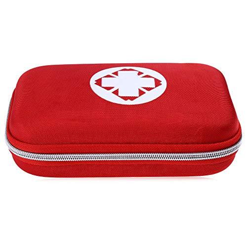 Travel mini kit primo soccorso, 51pezzi piccolo kit di primo soccorso–Forbici per viaggi, casa, ufficio, auto, camping, lavoro e all' aperto (rosso)