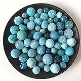 YANGB Heilstein 50 g künstliche Blaue Jade Quarz polierte Kristall Kies Probe Aquarium Stein Feng Shui Kristalle