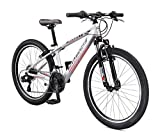Mongoose Rockadile Kids Hardtail Mountain Bike, 24-Inch Wheels, Silver