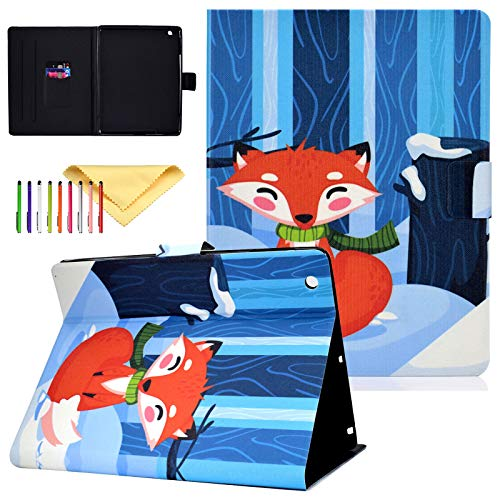 Uliking Case Fit iPad 4th/3rd/2nd Generation, PU Leather Skinshell Protective Smart Cover with Stand Feature and Auto Sleep/Wake, Red Fox