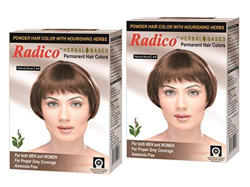 Radico Herbal Based Natural Brown Hair Color - Ammonia Free - Twin Pack