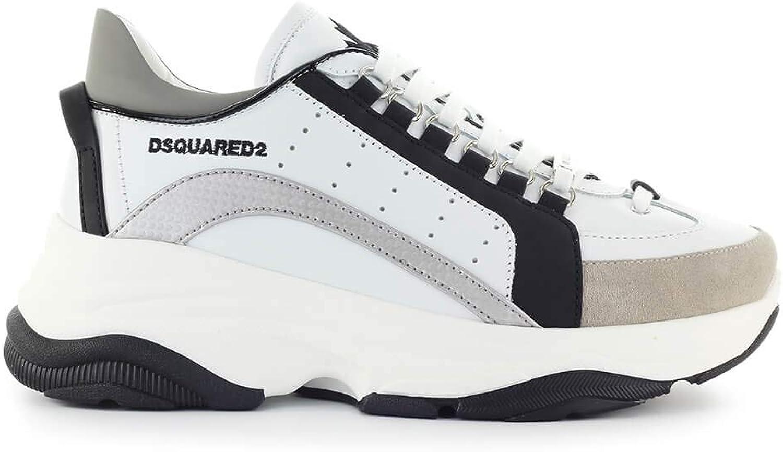 DSQUArot2 Herren Schuhe Bumpy 551 Schwarz Weiss Silber Silber Turnschuhe FW 19-20  hohes Ansehen
