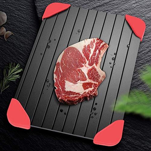 SBDLXY Tablett Auftauplatte Platte/Mehrfachspüle Design Bis zu dreimal schneller Auftauen für Fleisch und Tiefkühlkost |Kein Strom erforderlich + Silikonkissen-16CM * 23CM