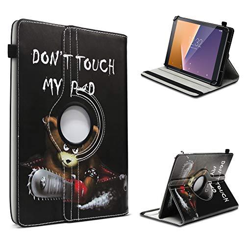 UC-Express Tablet Hülle kompatibel für Vodafone Tab Prime 6/7 Schutzhülle aus Kunstleder Tasche mit Standfunktion 360° drehbar Universal Cover Hülle, Farben:Motiv 12