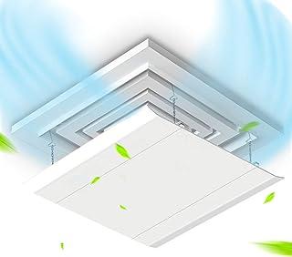 Deflector central de aire acondicionado de techo, parabrisas cuadrado de aire acondicionado, Deflector de salida de aire de aire acondicionado anti-directo, adecuado para el hogar, dormitorio, ofici