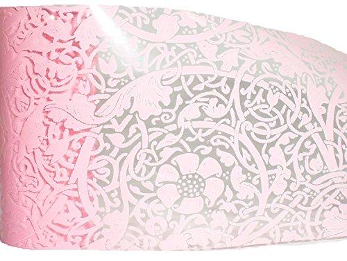 1,0 m Nail Art de transfert d'écran/Film/Film de grattage : # FO-112 : Rose Lace/rose dentelle/Ranken (Transparent)