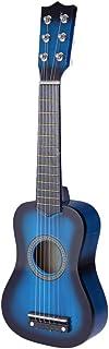 NUOBESTY Barngitarrleksak trägitarr musikinstrument pedagogisk leksak för småbarn barn 51 cm