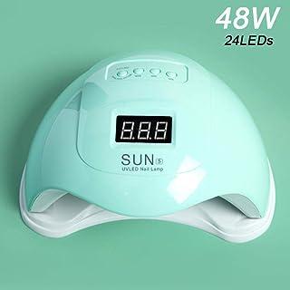 Esmalte de uñas 48W Ultravioleta LED Lámpara de gel de esmalte de uñas Esmalte de uñas 30S / 60S / 99S Esmalte de uñas ligero temporizado para herramientas de arte de uñas secas-Verde
